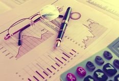 Stock exchange and markets graphic detail. Business and financial concept.Bank accounting and invest background royalty free stock photos