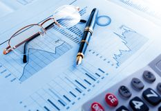 Stock exchange and markets graphic detail Royalty Free Stock Image