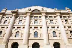 Stock Exchange, Milan Stock Photo
