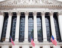 Stock exchange in New York City Royalty Free Stock Images