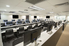 Stock Exchange Office. The working space of the stock exchange office with stock graphics Stock Photo