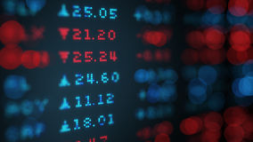 Stock exchange rates data board 3D illustration Royalty Free Stock Images