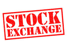 STOCK EXCHANGE. Red Rubber Stamp over a white background Stock Photo