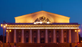 Stock Exchange at Spit of Vasilievsky Island, St.Petersburg Royalty Free Stock Image