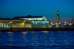 Stock Exchange at Spit of Vasilievsky Island, St.Petersburg Royalty Free Stock Images