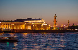 Stock Exchange at Spit of Vasilievsky Island, St.Petersburg Stock Photography