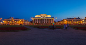 Stock Exchange at Spit of Vasilievsky Island, St.Petersburg Royalty Free Stock Photography