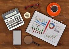 Stock exchange statistics Royalty Free Stock Image