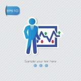 Stock exchange symbol,. Blue concept Stock Photo