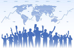 Stock exchange traders teamwork Royalty Free Stock Images