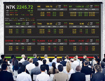 Stock Exchange Trading Forex Finance Graphic Concept Royalty Free Stock Image