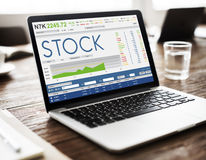 Stock Exchange Trading Forex Finance Graphic Concept Royalty Free Stock Photography