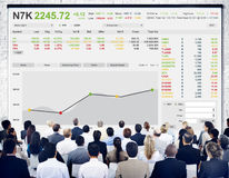 Stock Exchange Trading Forex Finance Graphic Concept Stock Images