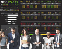 Stock Exchange Trading Forex Finance Graphic Concept stock image