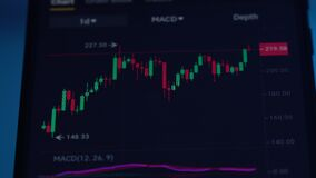 Stock Exchange, Trading Online, Trader Working With Smartphone on Stock Market Trading. Browse Foreign Exchange Market