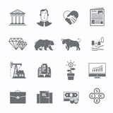 Stock exchange trading set of icons Royalty Free Stock Photography