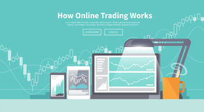 Stock exchange trading of web banners Stock Images