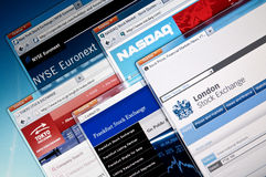 Stock exchange web sites Stock Photography