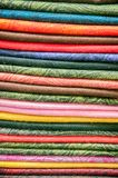 Stock of fabric Stock Image