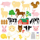 Stock farm icons. Set of stock farm icons Stock Photos