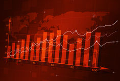 Stock Finance Diagram Royalty Free Stock Photography