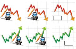 Stock and Finance Icon set Stock Images