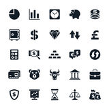 Stock and Finance icons Royalty Free Stock Image