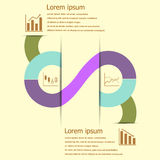 Stock and finance infographic design Royalty Free Stock Images