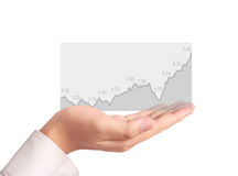 Stock financial graph in hand Royalty Free Stock Photos