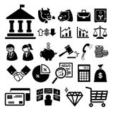 Stock financial icons set Royalty Free Stock Image