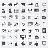 Stock financial icons set. illustration Stock Photography