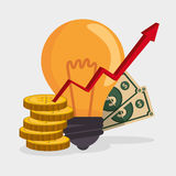 Stock financial market design. Stock and financial market design,  illustration eps10 graphic Stock Photography