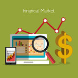Stock financial market design. Stock and financial market design,  illustration eps10 graphic Royalty Free Stock Image