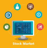 Stock financial market design. Stock and financial market design,  illustration eps10 graphic Royalty Free Stock Photos