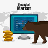 Stock financial market design. Stock and financial market design,  illustration eps10 graphic Stock Photo