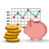 Stock financial market design. Stock and financial market design,  illustration eps10 graphic Royalty Free Stock Photo