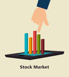 Stock financial market design. Stock and financial market design,  illustration eps10 graphic Royalty Free Stock Photography