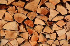 Stock of fire wood Royalty Free Stock Photo