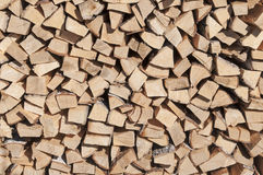 Stock of firewood. Stack of wood. The stock of firewood. Birch firewood Royalty Free Stock Images