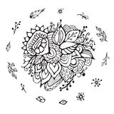 Stock  flower, doodle pattern. abstract art background Royalty Free Stock Image