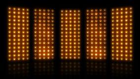 Stock footage bulb lamp light stage 4K LOOP