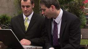 Stock Footage of Businessman Working Outdoors stock footage