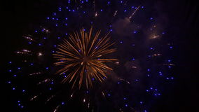 Stock footage of fireworks on the 4th of July stock video