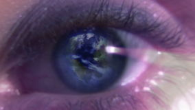Stock Footage of a Human Eye with a Rotating Globe