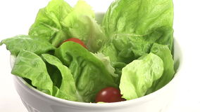 Stock Footage of Preparing a Healthy Salad stock video