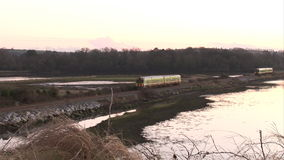 Stock Footage of a Train Approaching stock footage