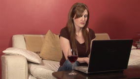 Stock Footage of a Woman Working from Home stock video
