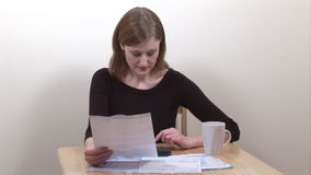 Stock Footage of Woman Working at Home stock footage