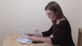 Stock Footage of Woman Working at Home stock video footage