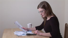 Stock Footage of Woman Working at Home stock video